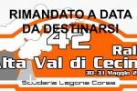 RINVIATO IL RALLY DELL'ALTA VAL DI CECINA.