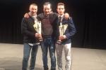 Filippetti , Antonicelli e Regis, premiati sabato 18 Febbraio a Bologna alla premiazioni Aci