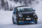 smart EQ fortwo e-cup al via i test su neve e ghiaccio