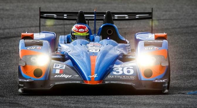 36 CHATIN Paul-Loup (FRA) - PANCIATICI Nelson (FRA) WEBB Oliver (GBR) / Alpine A450 Nissan Team Signatech Alpine, action during the 2014 ELMS European Le Mans Series, 4 Hours of Estoril from October 17th to 20th, 2014 at Estoril circuit, Portugal. Photo Florent Gooden / DPPI