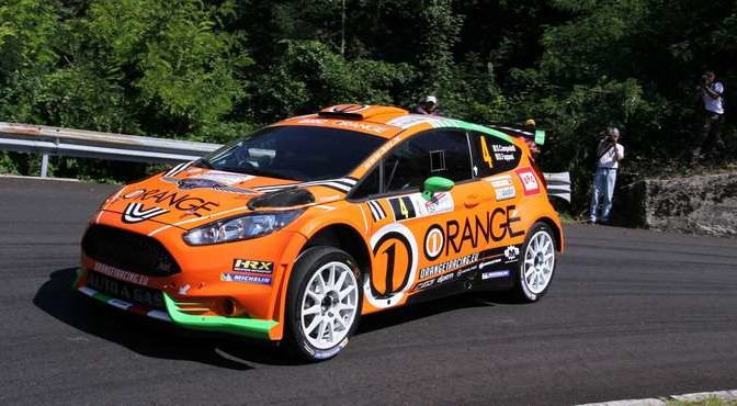 Simone Campedelli, Danilo Fappani (Ford Fiesta GPL R5 #4, Orange1 Racing)