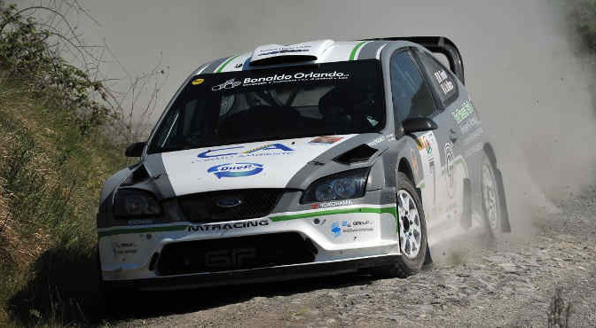 Mauro Trentin, Alice De Marco (Ford Focus WRC #7, Movisport)