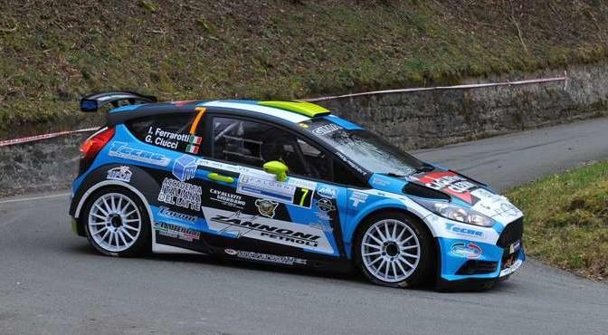 Ivan Ferrarotti, Giacomo Ciucci (Ford Fiesta R5 #7, Movisport);