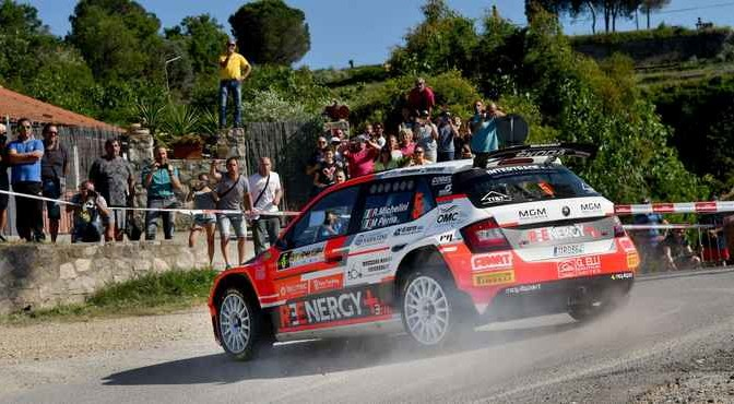 Rudy Michelini, Michele Perna (Skoda Fabia R5 #5, Movisport)