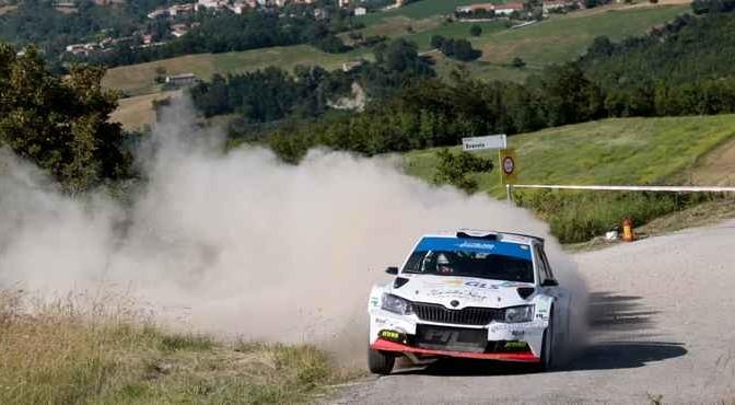 Daniele Ceccoli, Piercarlo Capolongo (Skoda Fabia R5 #14, Scuderia San Marino)