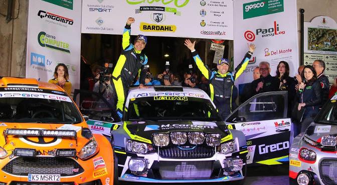 Cerimonia di premiazione 42 Rally Ciocco
