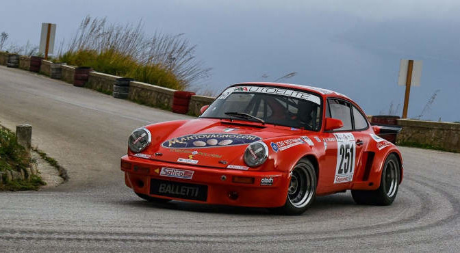 Giuliano Palmeri (Porsche 911 3.0 Rs, #251) 5^ Salita Monte Erice Storica