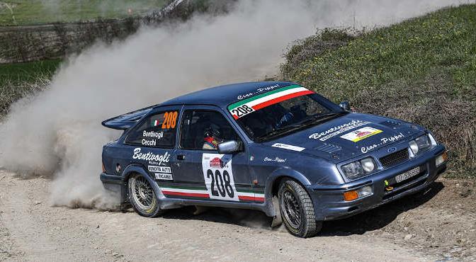 Bruno Bentivogli-Andrea Cecchi, Ford Sierra Cosworth #208